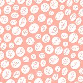 foto of cursive  - Seamless pattern with English cursive letters - JPG