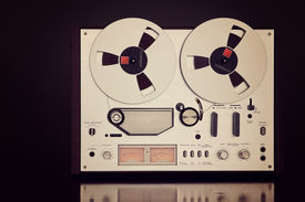 foto of analogy  - Analog Stereo Open Reel Tape Deck Recorder Vintage For Professional Sound Recording - JPG