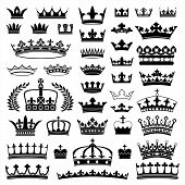 stock photo of crown  - Collection of various crowns - JPG
