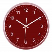 picture of ten  - Wall clock isolated on white background - JPG