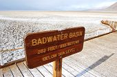 pic of hemisphere  - Badwater Basin sign in Death Valley National Park - JPG