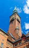 image of copenhagen  - Tower of Copenhagen City Hall  - JPG