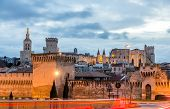 picture of avignon  - View of medieval town Avignon at morning UNESCO world heritage