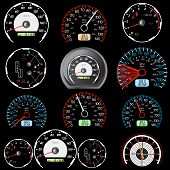 picture of mph  - Set of car speedometers for racing design - JPG