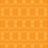 pic of tram  - a vectorial texture with tram in orange - JPG