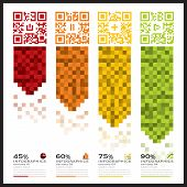 image of qr-code  - QR Code Business Infographics Banner And Background Design Template - JPG