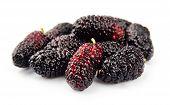 stock photo of mulberry  - Ripe mulberry on a white background  - JPG