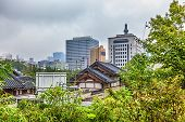 foto of korean  - Traditional old and modern korean houses cityscape at autumn in South Korea - JPG