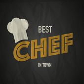 picture of chefs hat  - Restaurant chef design abstract vector illustration background - JPG