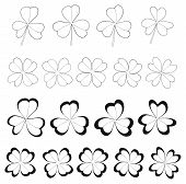 pic of four leaf clover  - Clovers With 3 And 4 Leaves for Saint Patrick - JPG