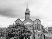 image of evangelism  - St Matthauskirche evangelic church in Berlin Germany in black and white - JPG