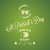 picture of saint patrick  - Patrick day beer design background 10 eps - JPG