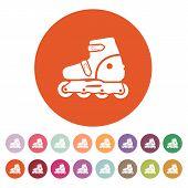 stock photo of roller-skating  - The roller skate icon - JPG