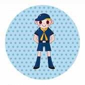 picture of boy scout  - Scout Theme Elements - JPG