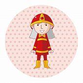 stock photo of fireman  - Fireman Theme Elements - JPG