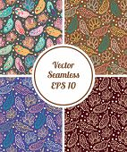image of feathers  - Vector seamless feathers pattern - JPG