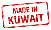 picture of kuwait  - made in Kuwait red square isolated stamp - JPG