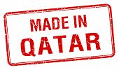 pic of qatar  - made in Qatar red square isolated stamp - JPG