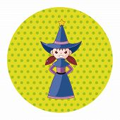 foto of witch  - Witch Cartoon Theme Elements - JPG