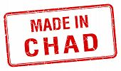 stock photo of chad  - made in Chad red square isolated stamp - JPG