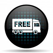 stock photo of free-trade  - free delivery icon transport sign