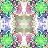 picture of fractals  - Pattern from fractal Flowers - JPG