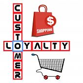 image of loyalty  - Abstract colorful background with shopping bag - JPG