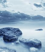 stock photo of crimea  - sea coats and sky in Crimea beach in Crimea - JPG