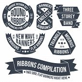 pic of ribbon  - Not ordinary ribbons and banners for use in emblems - JPG