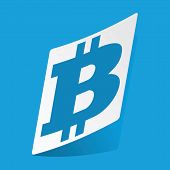 picture of bitcoin  - Sticker with bitcoin icon - JPG
