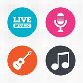 image of music symbol  - Circle buttons - JPG