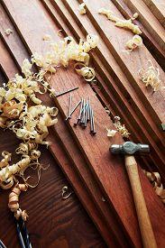 pic of lumber  - Carpentry or home renovation - JPG