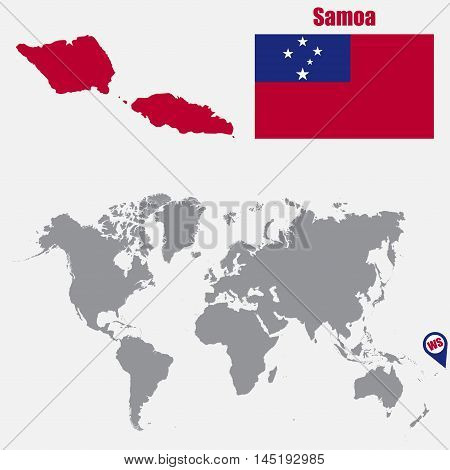Samoa map on