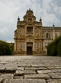 picture of carthusian  - The cobble stones in the courtyard of the Carthusian in Jerez - JPG
