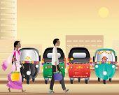 Постер, плакат: Парк такси тук тук