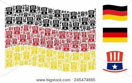 Waving Germany Flag Vector Uncle
