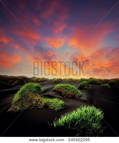 Exotic landscape of the volcanic