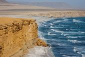 Cliff Over The Pacific Ocean. Paracas, Peru poster