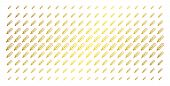 Thermometer Icon Gold Colored Halftone Pattern. Vector Thermometer Pictograms Are Organized Into Hal poster