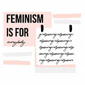 Abstract Creative Femenism Collage, Handwritten Text Girl Power On White Sticker Background And Feme poster