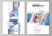 Blog Graphic Business Templates. Page Website Design Template, Easy Editable Abstract Vector Layout. poster