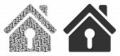 Home Keyhole Composition Icon Of One And Zero Digits In Variable Sizes. Vector Digital Symbols Are G poster