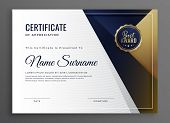 Elegant Diploma Certificate Of Achievement Template Design poster