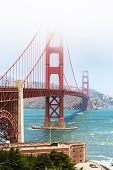 Golden Gate Bridge In The Mist, San Francisco, California, Usa poster