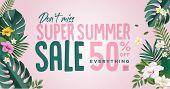 Summer Sale. Vector Illustration Concept For Mobile And Web Banner, Poster, Online Shopping Ads, Soc poster