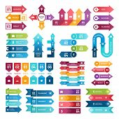 Colored Arrows For Business Presentations. Vector Collection Of Infographic Elements. Illustration O poster