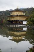 View Of Kinkakuji, Temple Of The Golden Pavilion Buddhist Temple In Kyoto. It Is One Of The Most Pop poster