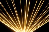 Yellow Laser Show Nightlife Club Stage Shining Sparkling Rays. Luxury Entertainment In Nightclub Eve poster