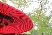 Japanese Traditional Red Parasol Umbrella In Japan poster