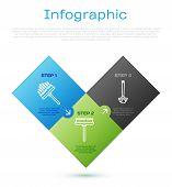 Set Line Squeegee, Scraper, Wiper, Toilet Brush And Squeegee, Scraper, Wiper. Business Infographic T poster
